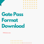 Read more about the article Gate Pass Format For School Vehicle Office