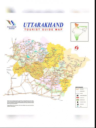 Uttarakhand Tourism MAP