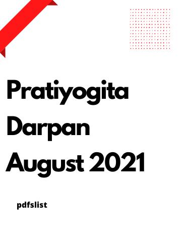 Pratiyogita Darpan Magazine August 2021
